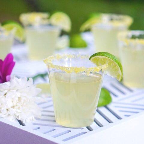 Colorful margarita jello shots perfect for all occassions