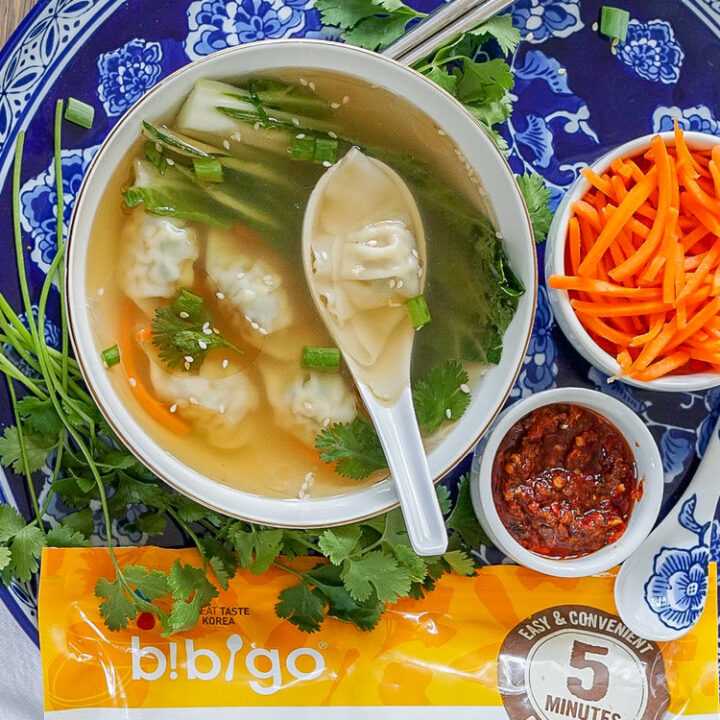 Savoury wonton soup that can be easily prepared at home.