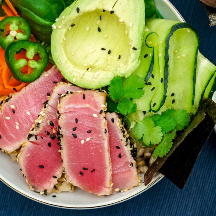 Sesame Seared Tuna Buddha Bowls