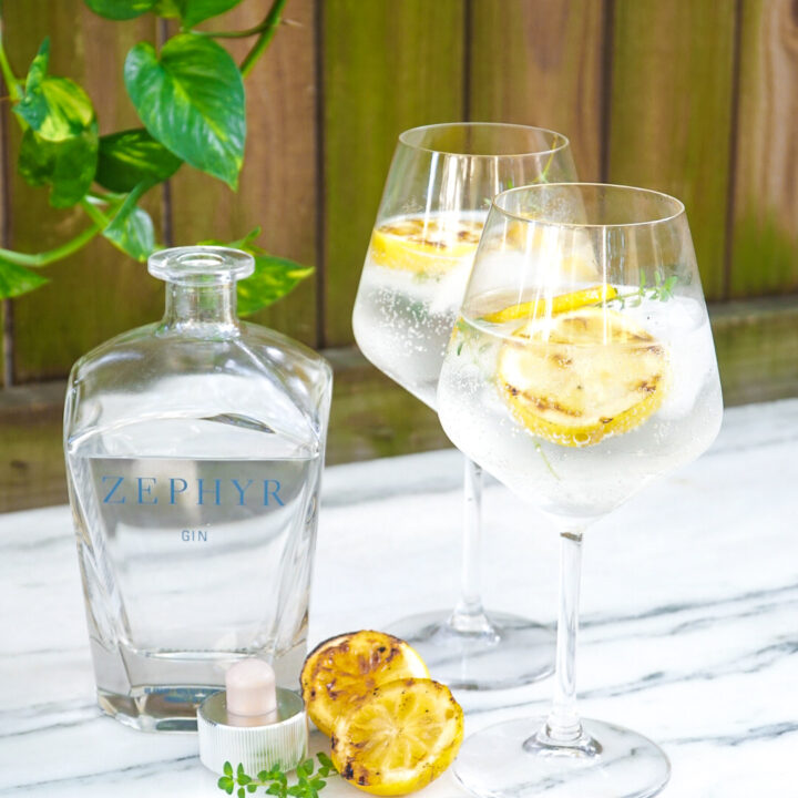 Grilled Lemon Gin and Tonic