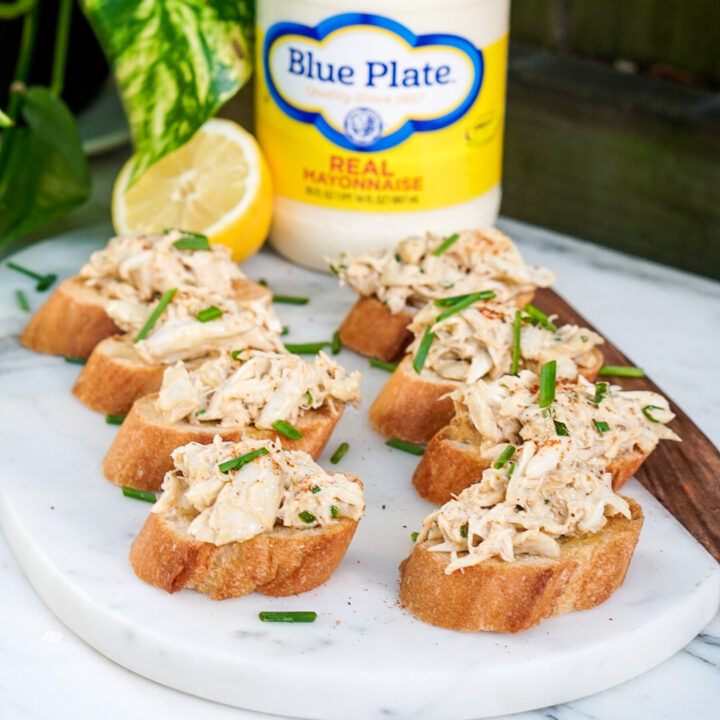 Crab Dip Recipe - Crab Toast Crostini Appetizer
