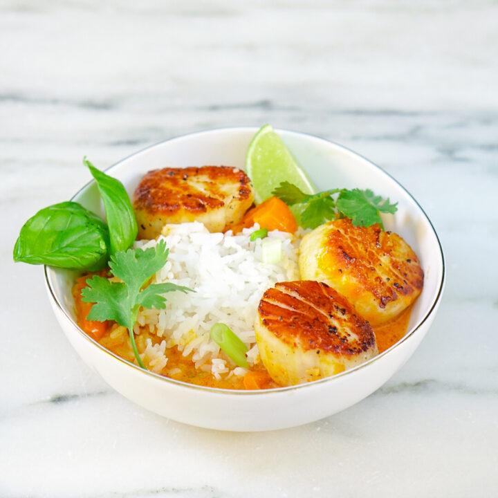 Thai Curry Scallops