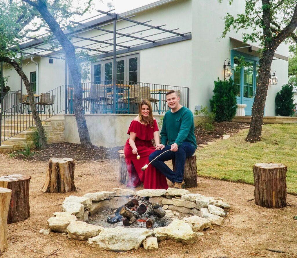 Enjoy a campfire and smores