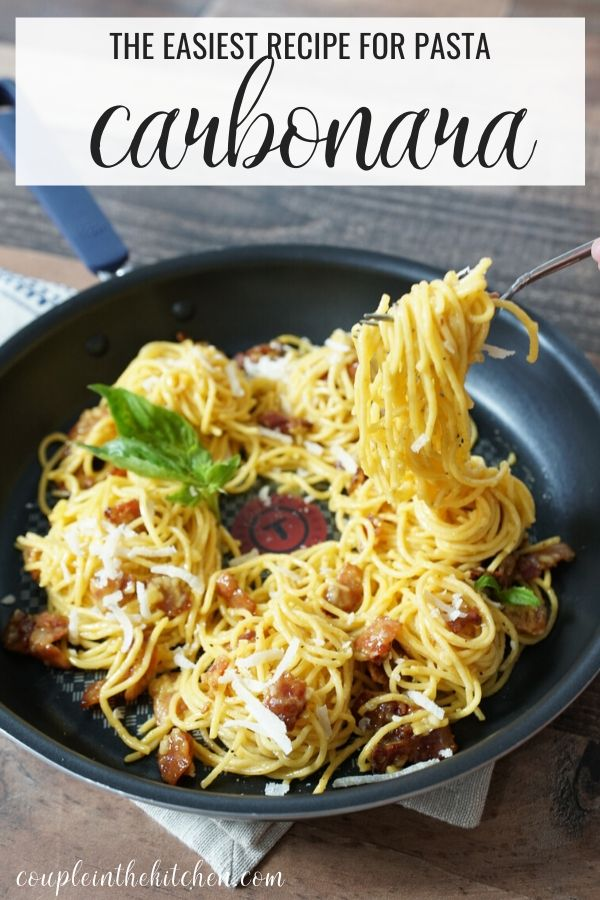 The easiest and most delicious Carbonara Pasta Recipe.