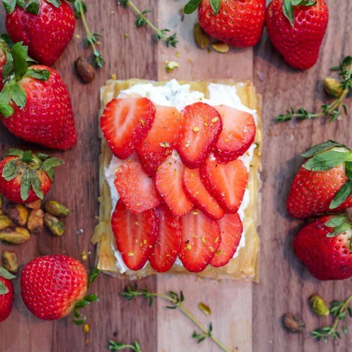 Strawberry Tart Phyllo Dough Desserts