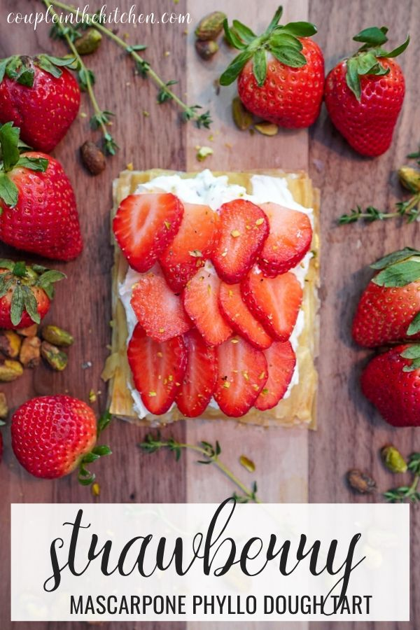 Strawberry tart with mascarpone cheese - a perfect phyllo dough dessert!