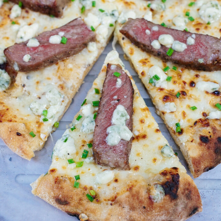 Blue Cheese and Steak Pizza