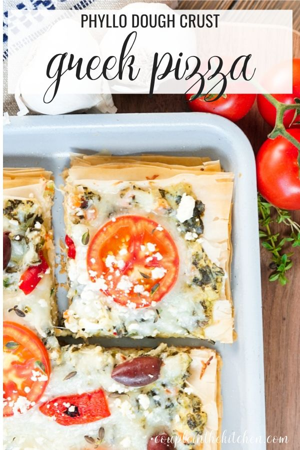 Greek Pizza Recipe with a Phyllo Dough Crust