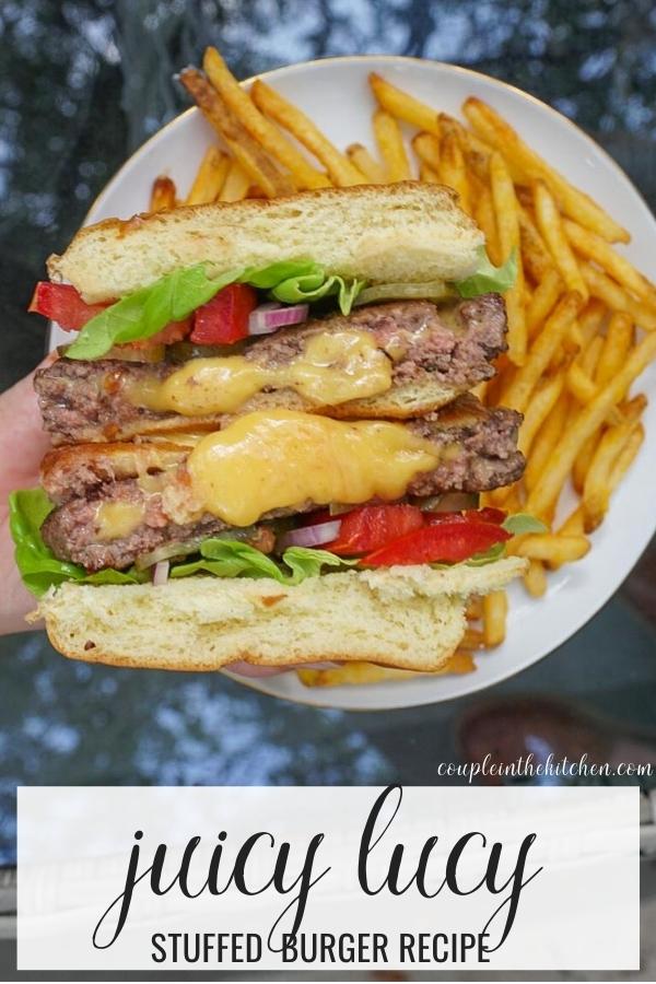 Juicy Lucy Stuffed Cheeseburger Recipe