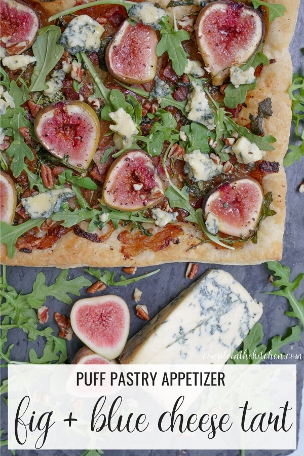 Puff Pastry Appetizer - Blue Cheese and Fig Tart