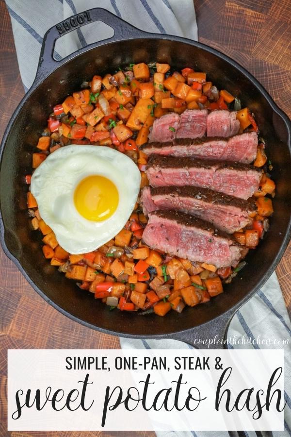 Sweet Potato Hash with Steak!