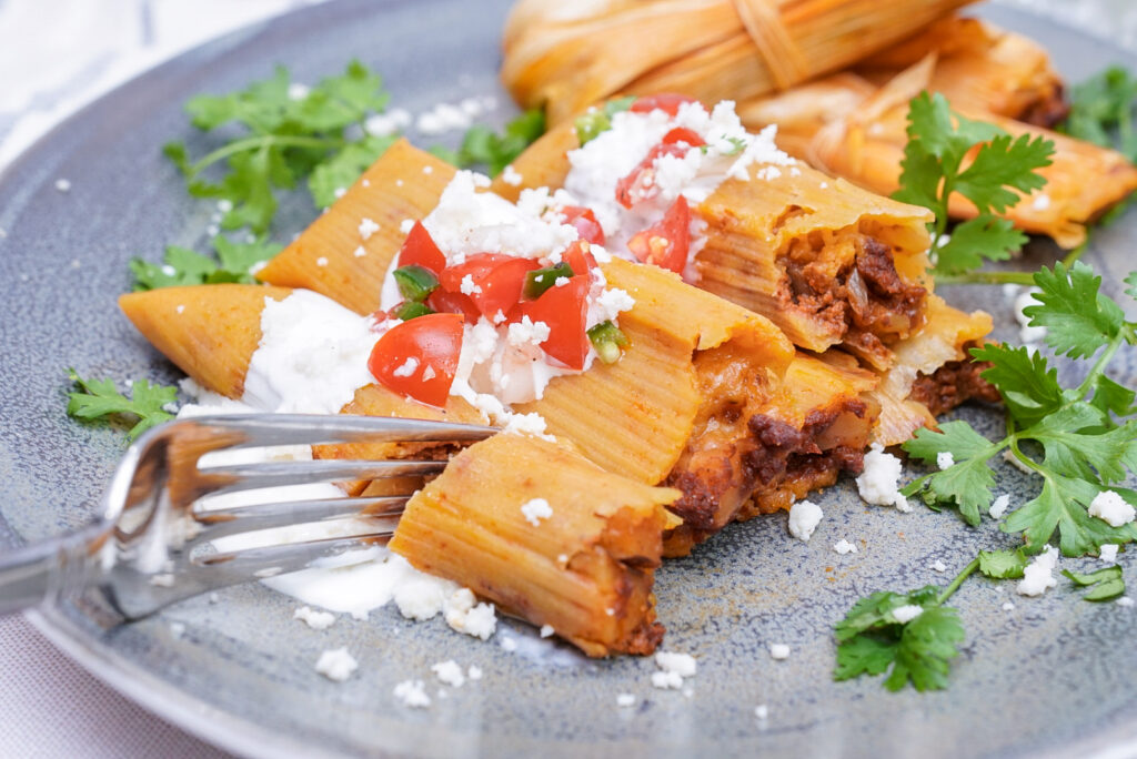Instant Pot Tamales with Chorizo and Potato