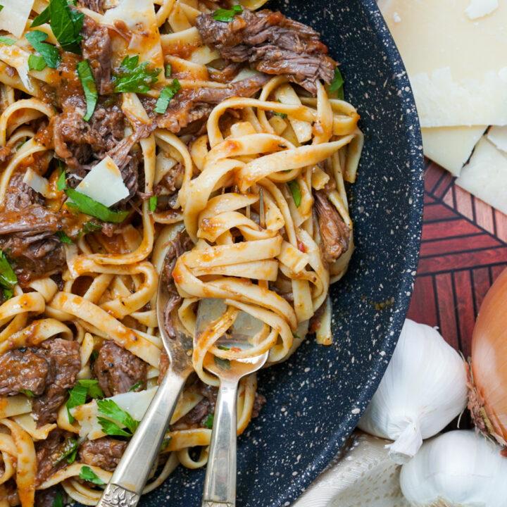 Short Rib Pasta Instant Pot Recipe