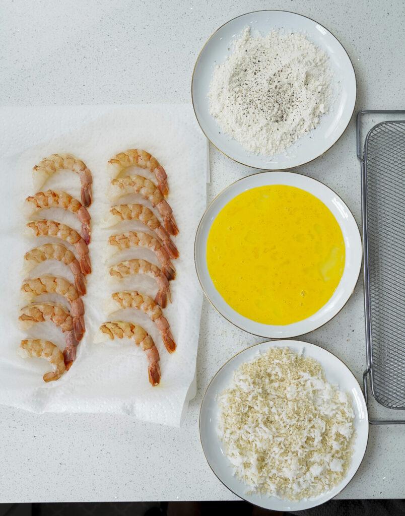 Air Fryer Coconut Shrimp Batter