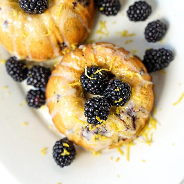 Blackberry Bundt Cake with Lemon Glaze