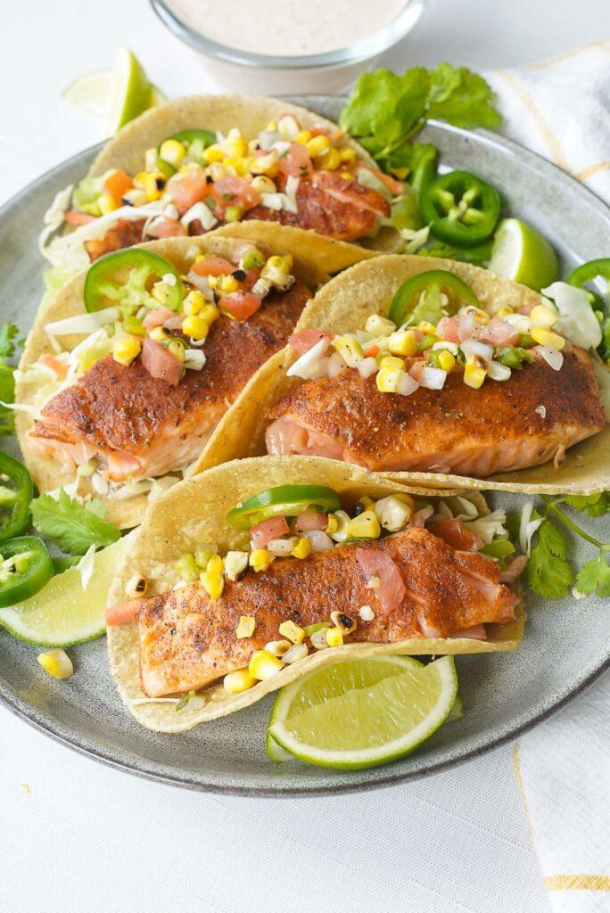 BBQ Salmon Tacos