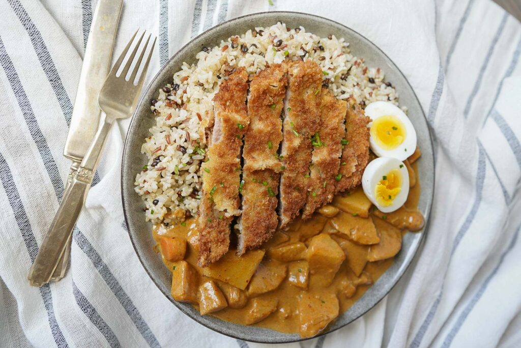 Pork Katsu with Japanese Curry